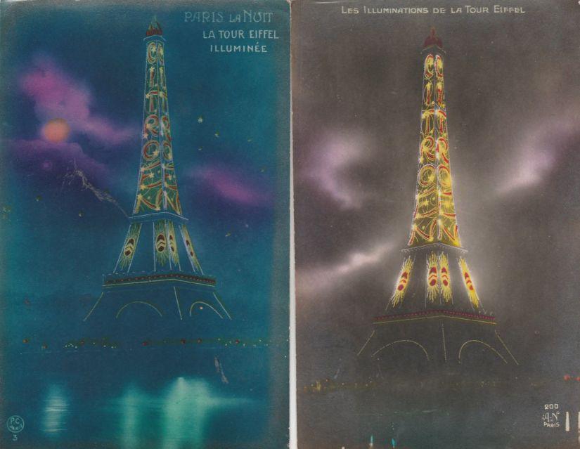 2-Cpa-La-Tour-Eiffel-Illuminee-Citroen-Tbe