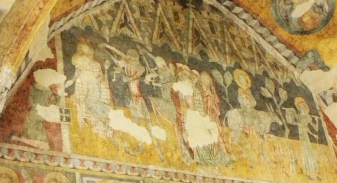 Eg St-Egide à Poprad: choeur, fresque gothique du massacre des Innocents