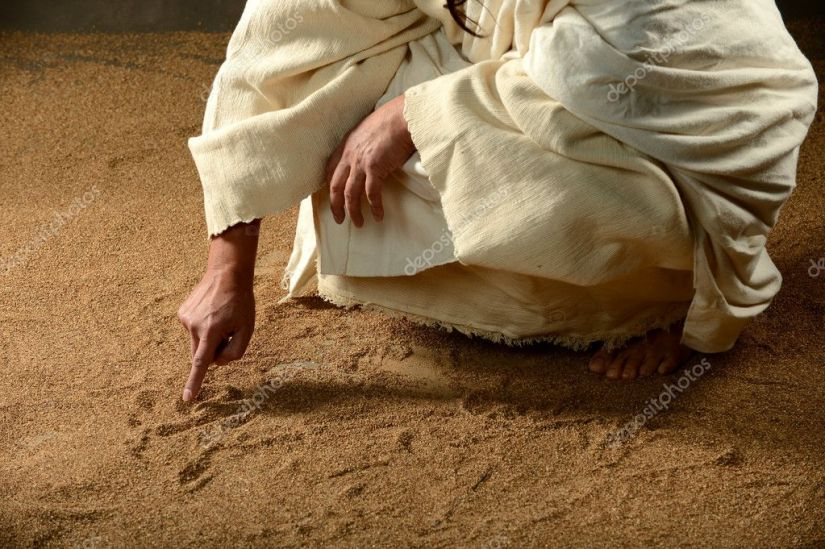 depositphotos_28812605-stock-photo-jesus-writing-on-the-sand