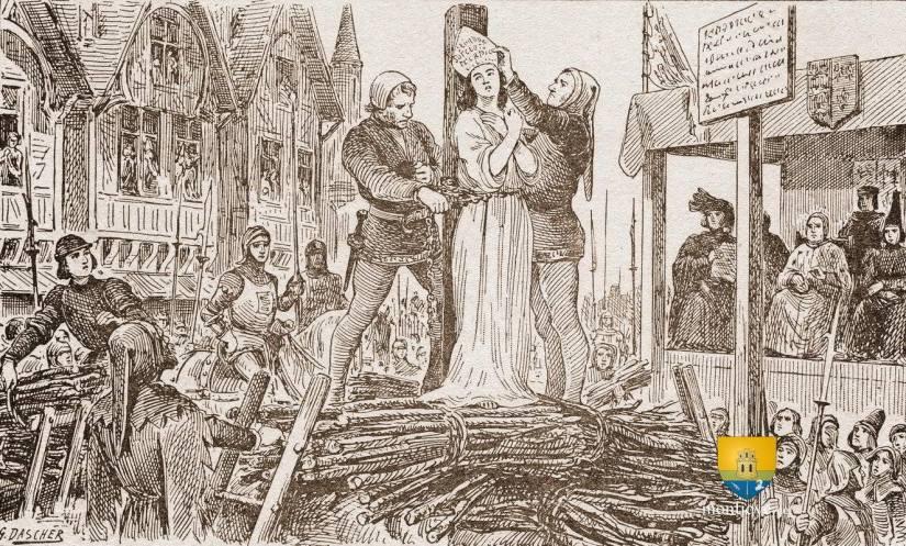Jeanne d'Arc sur le Bucher à Rouen