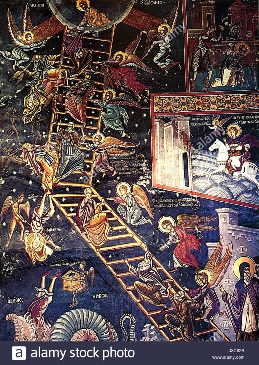 dionysiou-monastery-the-ladder-of-divine-ascent-fresco-16th-century-J3C62B.jpg