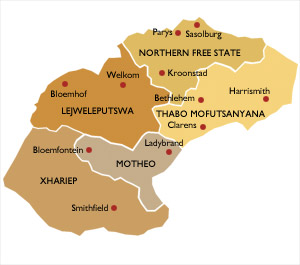 immigration-afrique-du-sud-map-free-state
