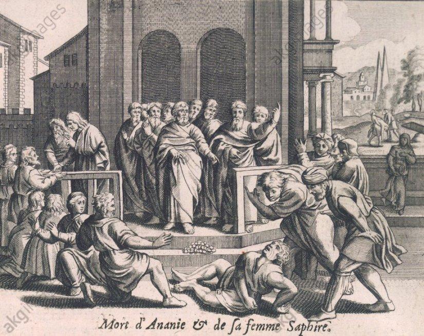 nach Merian, Ananias und Saphira - -