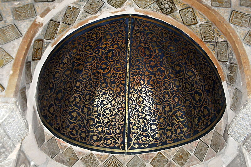 800px-Demi-coupole_du_mihrab,_Grande_Mosquée_de_Kairouan