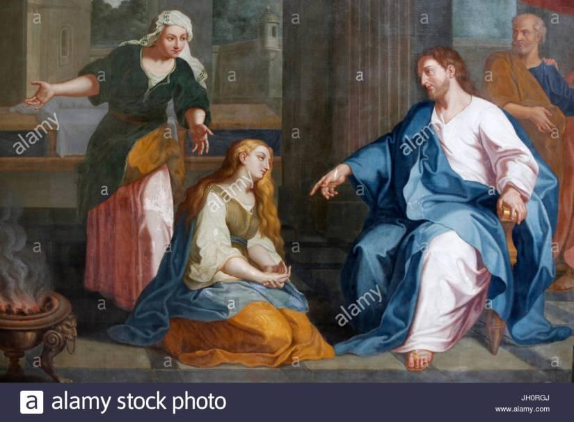 abbaye-aux-dames-caen-peinture-representant-marthe-et-marie-par-rethou-18e-siecle-la-france-jh0rgj