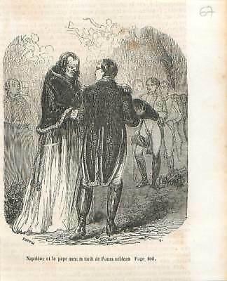 Rencontre-Napoléon-et-le-pape-Pie-VII-forêt
