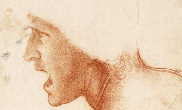 Leonardo da Vinci Date: Red chalk on pale, brown-toned paper 226x186 mm