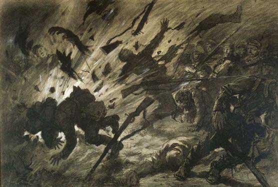 georges-scott-effet-obus-nuit-avril-1915