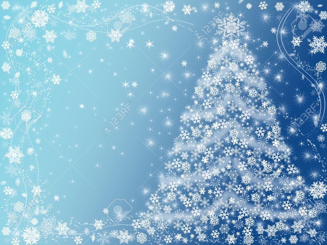 2073025-arbre-de-noël-dessinées-par-des-flocons-de-neige-blanc-sur-fond-bleu
