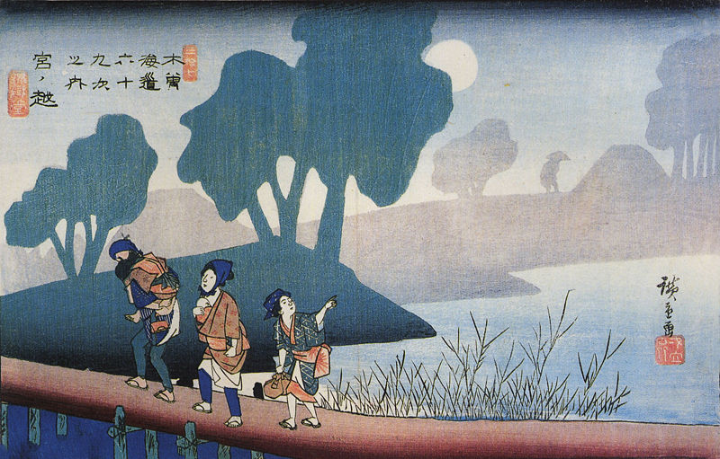 800px-Hiroshige,_A_family_in_a_misty_landscape