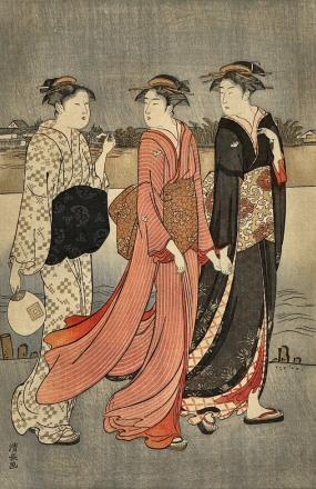 Kiyonaga-Femmes-Riviere