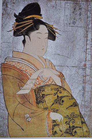 Utamaro_L'oiran_Hanaogi