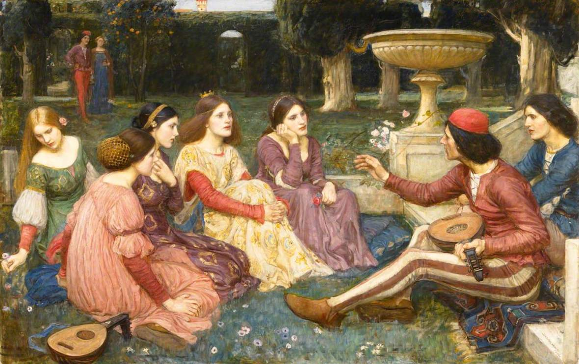 Waterhouse, John William, 1849-1917; The Decameron