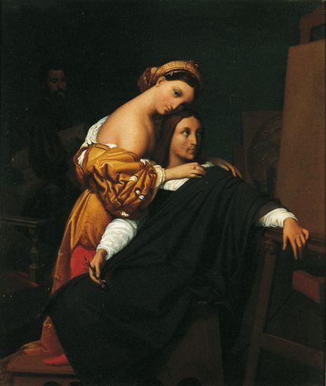 1311025-Ingres_Raphaël_et_la_Fornarina