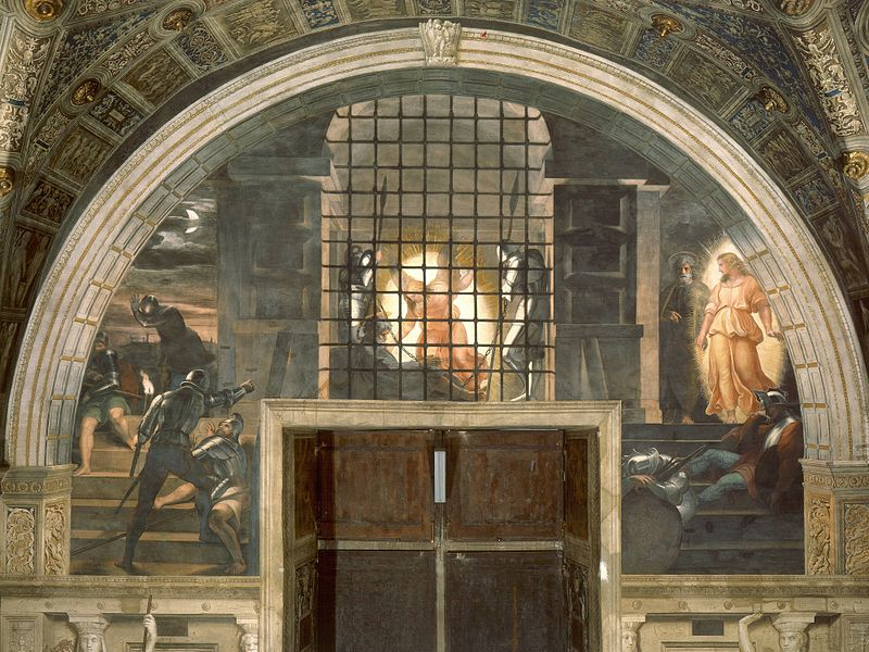800px-Raphael_-_Deliverance_of_Saint_Peter