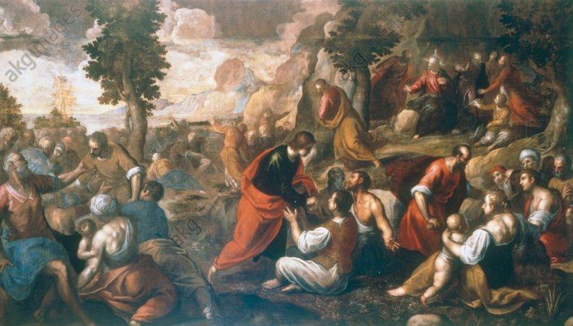 Palma Giovane, Vermehrung der Brote - Palma Giovane /Multiplic.of Bread/c.1600 - Palma Giovane / Multiplication des pains