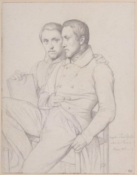 Hippolyte_Flandrin_-_Double_Self-Portrait_of_Hippolyte_and_Paul_Flandrin