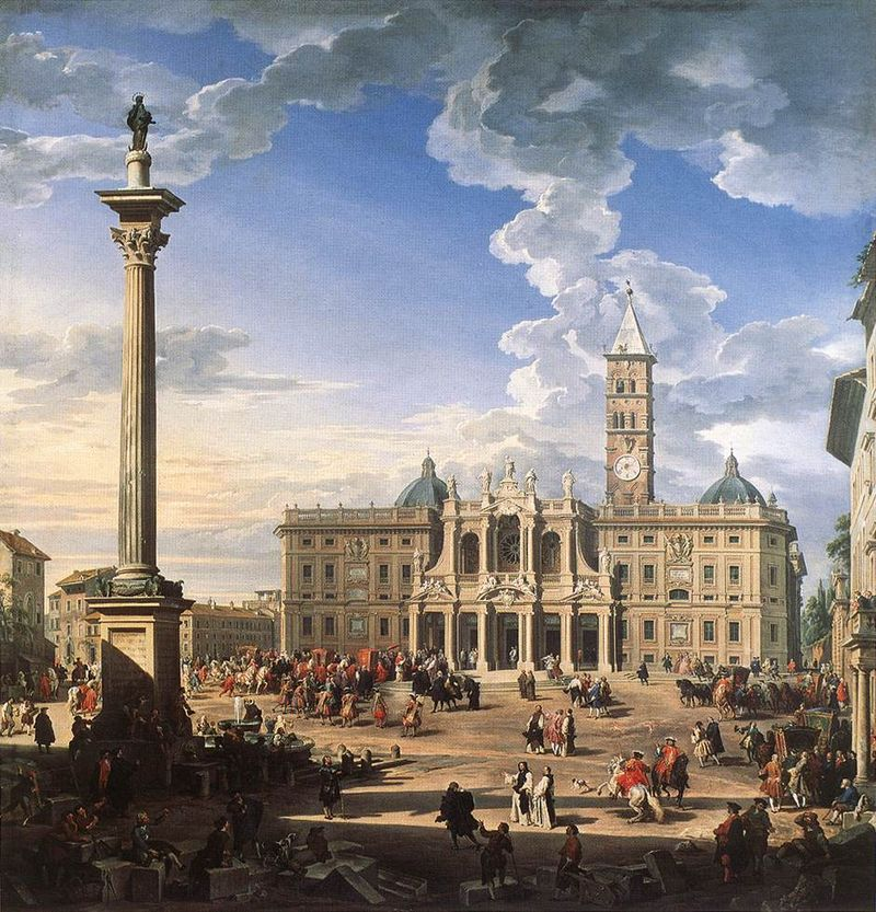 800px-Giovanni_Paolo_Pannini_-_The_Piazza_and_Church_of_Santa_Maria_Maggiore