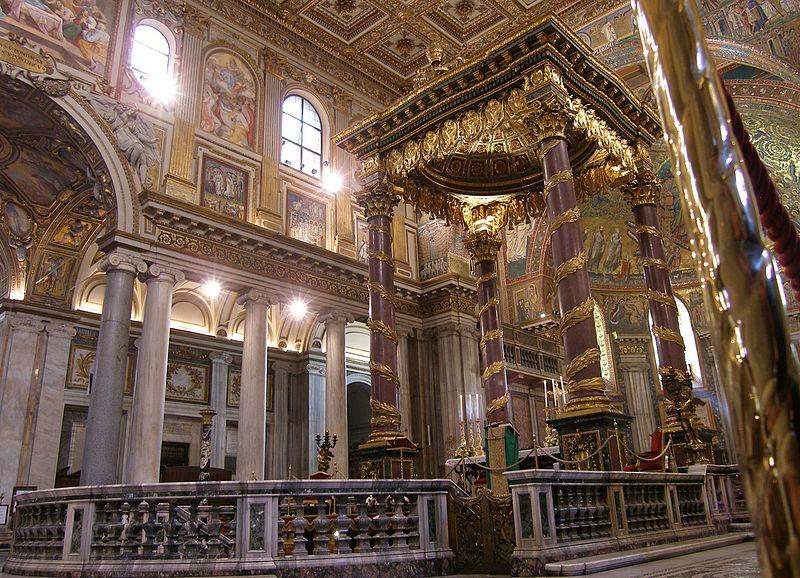 Rom,_Santa_Maria_Maggiore,_Papstaltar_1