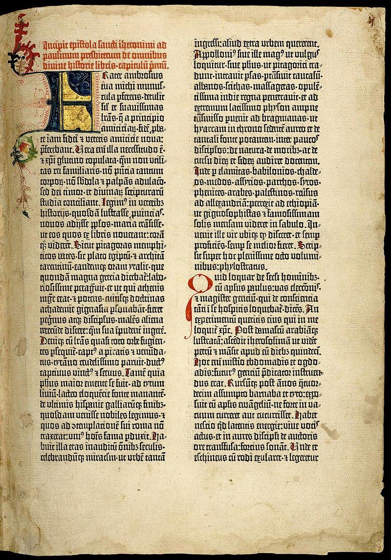 800px-Gutenberg_bible_Old_Testament_Epistle_of_St_Jerome